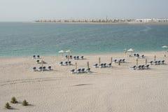 UAE. Abu Dhabi. Strand Lizenzfreies Stockfoto