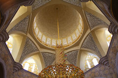 UAE, Abu-Dhabi, the White mosque, the interior of the mosque. Mosque of Sheikh Zayed in Abu Dhabi is the largest mosque in the United Arab Emirates and the Stock Photos