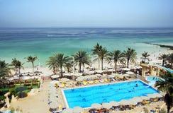 The UAE. Azure coast of the Emirate of Sharjah. Stock Image