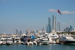 UAE Big Flag Royalty Free Stock Photo