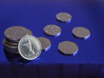 UAE dirham currency notes and coins. Royalty Free Stock Images