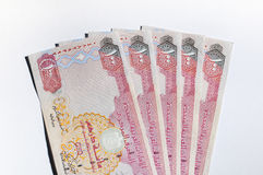 UAE dirham notes. Stock Photo