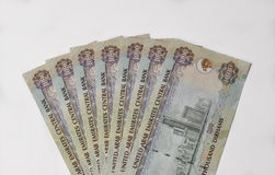 UAE dirham notes. Stock Image