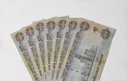 UAE dirham notes. Stock Image