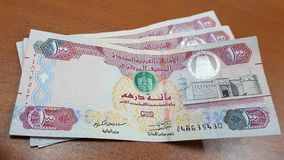 UAE Dirhams 100 Obraz Stock