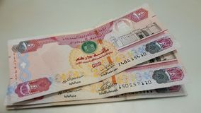 UAE-Dirhams 100 Royaltyfria Bilder