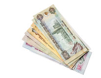 UAE Dirhams. Assorted currency notes Royalty Free Stock Image