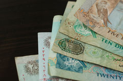 UAE Dirhams. Banknote background Stock Images