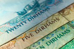 UAE Dirhams. Banknote background Royalty Free Stock Photography