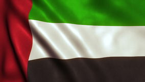 UAE Dubai Abu Dhabi Flag video animation stock video