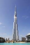 UAE. Dubai. Burj Khalifa. Vertical photo of the tallest building in the world - Burj Khalifa. Dubai. United Arab Emirates royalty free stock images