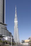 UAE. Dubai. Burj Khalifa. Vertical photo of the tallest building in the world - Burj Khalifa. Dubai. United Arab Emirates royalty free stock image