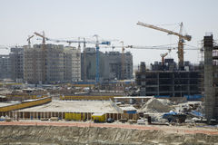 UAE Dubai construction project at the Mall of the Emirates on Sheikh Zayed Road Stock Images