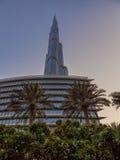 UAE/DUBAI - 14 de septiembre de 2012 - vista de debajo del gran burj khal Foto de archivo libre de regalías