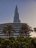 UAE/DUBAI - 14 de setembro de 2012 - ideia de baixo do grande burj khal Foto de Stock Royalty Free