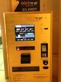 UAE Dubai Gold vending Machine. Gold vending machine stock photo