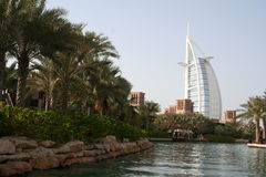 UAE. Dubai. Jumeira. Hotel Burj Al Arab Royalty Free Stock Photo