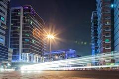 UAE/DUBAI - 26 2012 SEP - Dubaj miasto, długi ujawnienie z samochodowym lig Obrazy Royalty Free