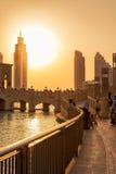UAE/DUBAI - 14 sep 2012 - Mensen die op de straten van duba ontspannen Stock Fotografie