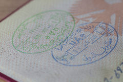 UAE Entry and Exit Stamps Royalty Free Stock Photography