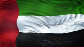 UAE falowania flaga Realistyczny tło Obrazy Stock