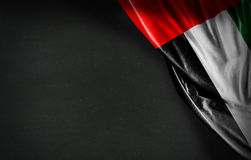UAE flag on blackboard background.  Royalty Free Stock Image