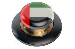 UAE flag button Royalty Free Stock Image