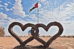 I Love UAE stock image