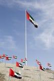 UAE flaga w Mezairaa Obraz Stock