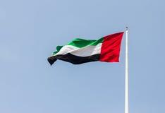 UAE-flagga Arkivfoto