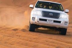 UAE Fujairah 2017 19 Safari 11 nicht für den Straßenverkehr auf Jeep stockfotografie