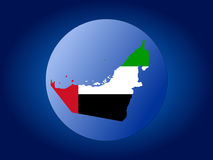UAE globe Stock Photos