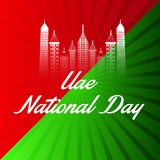 UAE Happy National Day. Stock Photos