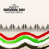 UAE Happy National Day. Royalty Free Stock Photography