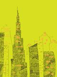 UAE-horisont Royaltyfri Fotografi