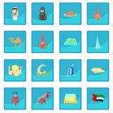 UAE icon blue app Stock Images