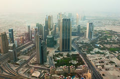 UAE-JUNE 7: View of the city from the observation deck Burj Khalifa Royalty Free Stock Photos