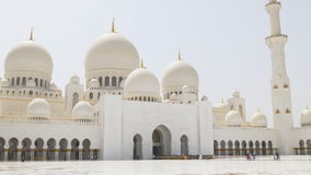 Uae main mosque inside hall day light panoramic view 4k stock footage