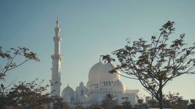 UAE, 2017: Mezquita magnífica zayed jeque señal famosa de Abu Dhabi almacen de metraje de vídeo