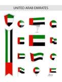 UAE mieszkania flagi kolekcja fotografia stock