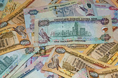 Background UAE currency stock image
