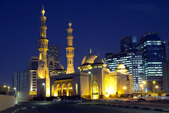 UAE Moskén av emiraten av Sharjah Royaltyfria Bilder