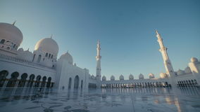UAE, 2017: Mosque in Abu Dhabi. Columns and dome of the mosque stock video footage