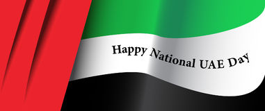 UAE National flag. United Arab Emirates National flag with dedication to country's National Day Royalty Free Stock Image