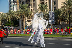 Uae-Nationaltagparade lizenzfreie stockfotos