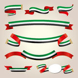 UAE Ribbons Set Royalty Free Stock Photography