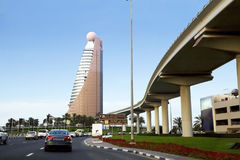 The UAE. the Sheikh Zayed road. Royalty Free Stock Photo