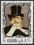 UAE - 1969: shower Giuseppe Verdi 1813-1901, italiensk kompositör Royaltyfri Foto