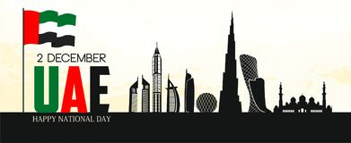 UAE-självständighetsdagen royaltyfri illustrationer