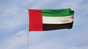 UAE sjunker att vinka i himlen, nationellt symbol av UAE Nationell dag för UAE stock video